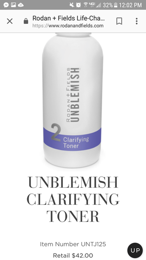 Rodan+Fields Unblemish Clarifying Toner for Sale in Willoughby, OH
