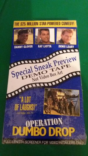 Disney's OPERATION DUMBO DROP Special Sneak Preview DEMO TAPE (VHS) NEW! RARE! for Sale in Lewisville, TX