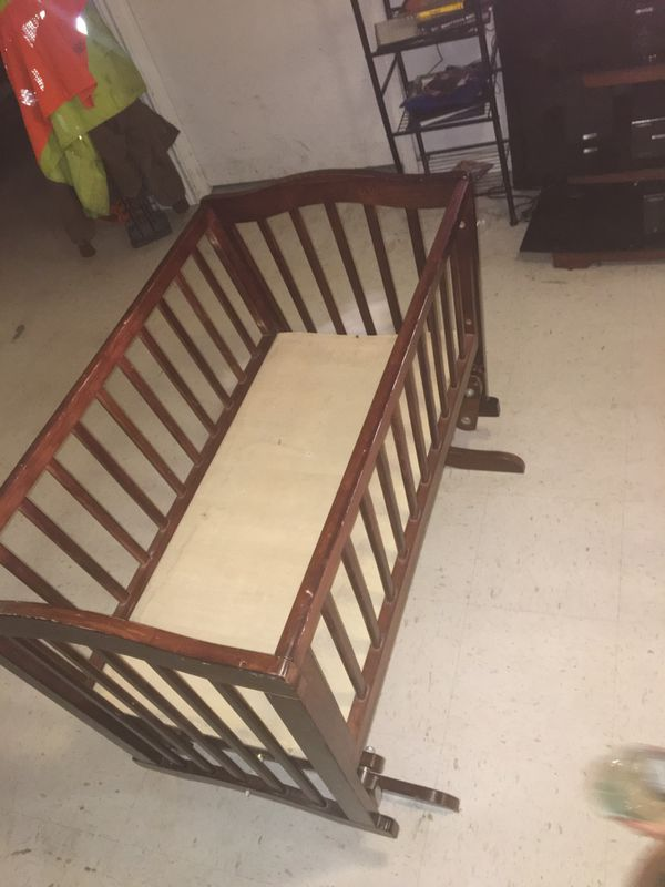 Nice wooden baby crib for sale ‼️