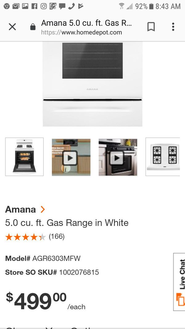 Brand new Never been used gas stove