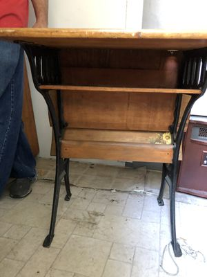 antique desk with chair/bench for Sale in San Jose, CA