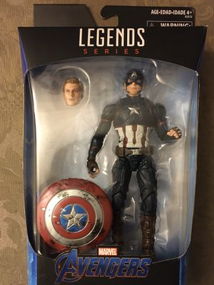 Walmart Exclusive marvel legends worthy captain America for Sale in Wichita, KS