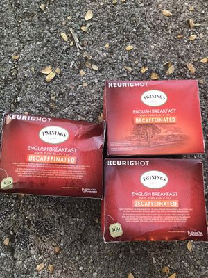 Twinings k-cups 72 pods! English breakfast. for Sale in Austin, TX