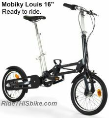 Brand New Folding Bike Mobiky 16 Louis, Rouge for Sale in Quincy, MA