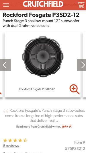 2 12s Rockford fosgate punch p3sd2-12 subs for Sale in Humble, TX