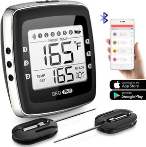 Wireless Digital BBQ Grill Thermometer 2 Stainless Probes Support iOS & Android for Sale in San Gabriel, CA
