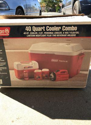 Coleman 40 quart ice chest cooler set for Sale in Hesperia, CA