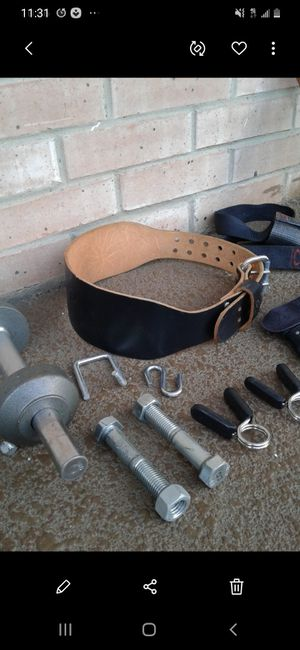 NICE NEW WEIGHT EQUIPMENT & ACCESSORIES $40. for Sale in Plano, TX