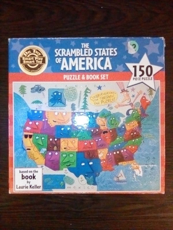 Ceaco® The Scrambled States of America Puzzle & Book Set 150 Piece Jigsaw Puzzle for Sale