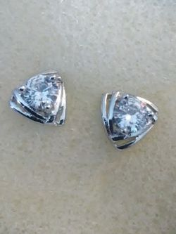 925 Sterling And White Sapphire Stud Earrings for Sale in Lombard,  IL