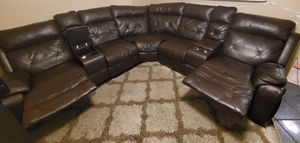 Brown Sectional Couch w/ reclining seats for Sale in Richardson, TX