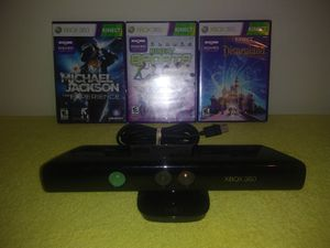 Xbox 360 kinect with 3 games for Sale in Gallatin, TN