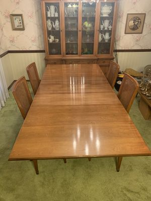 Antique Dining Room Table AND Cabinet Set for Sale in St. Louis, MO