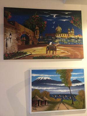 Two international paintings for Sale in Seattle, WA