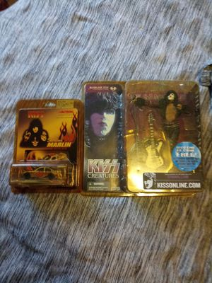 Kiss action figure and a rare Kiss Sterling Martin racer number 1 of 24.672 for Sale in Dade City, FL