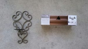 Gold Colored Wall Sconce & Shelves for Sale in Irwin, PA