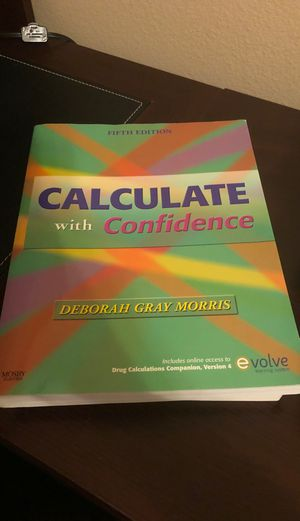 2 dosage calculation text books for Sale in Sanford, FL