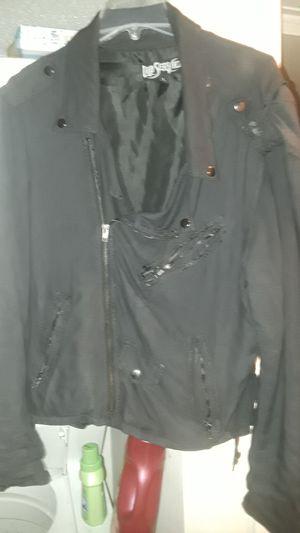 LIP SERVICE CLOTH BIKER JACKET SIZE 38 40 for Sale in Melbourne, FL