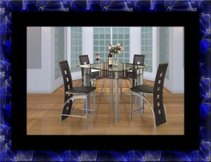 Counter height glass dining table with 4 chairs for Sale in Manassas, VA