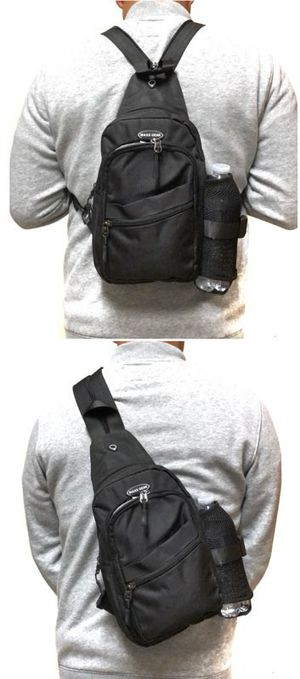 Brand NEW! Black Handy Crossbody/Side Bag/Sling/Pouch Converts to Backpack Style For Everyday Use/Work/Traveling/Outdoors/Sports/Gym/Hiking/Biking for Sale in Carson, CA