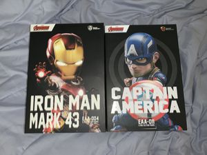Egg Attack Action Iron Man Mk 43 & Captain America for Sale in Union City, CA
