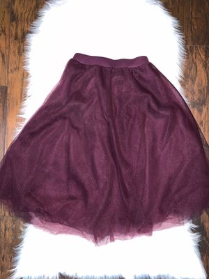 Elegant Plum Purple Tulle Skirt ~ Charlotte Russe size XS for Sale in Tacoma, WA