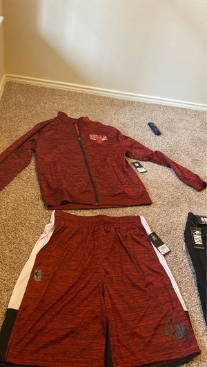 NBA shorts(Large)and jacket(large) official wear full clothing wear for Sale in Euless, TX