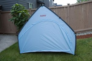 ALEKO BS68BL Portable Pop Up Bike Tent Bicycle Storage Shed Weather Resistant Protection Outdoor with Carrying Case 79 X 63 X 32 Inches Blue for Sale in Kent, WA