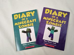 2 Diary of a Minecraft Zombie Books. AR Books. Chapter Books. Children's books 📚 for Sale in Riverside, CA