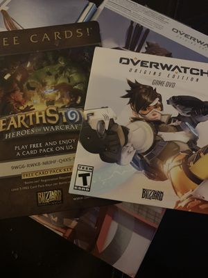 OVERWATCH pc game dvd, never used for Sale in Whittier, CA