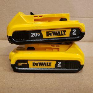 DEWALT 20V 2AH BATTERIES - NEW for Sale in Livonia, MI