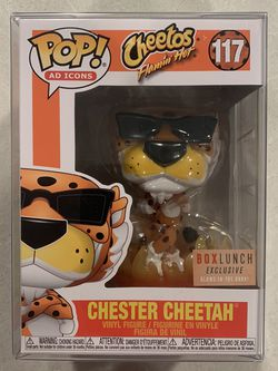 GLOW Chester Cheetos Cheetah Funko Pop *MINT* BoxLunch Exclusive Flamin' Hot GITD Ad Icons 117 with protector for Sale in Lewisville,  TX