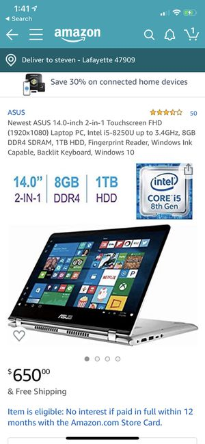 Asus Touchscreen Laptop/Tablet for Sale in Lafayette, IN
