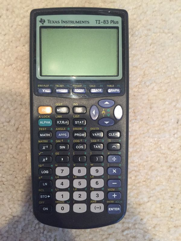 GREAT CONDITION Texas Instruments TI 83 Plus Graphing Calculator