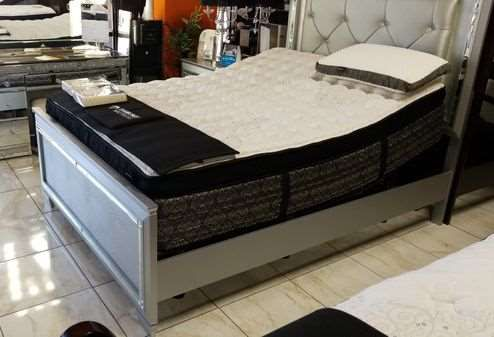 Brand new queen bed frame. new furniture mattress available XB