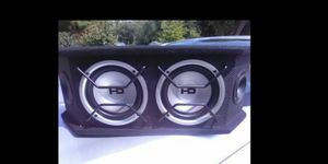 Small set of subs in ported box like new for Sale in St. Louis, MO