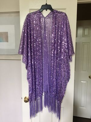 Kimono with Sequin & Fringe Detail for Sale in Houston, TX