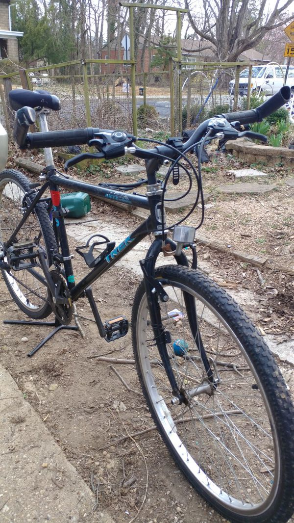 Trek 800 Antelope, mid 90s Mountain hybrid bike. Upgraded shifters and brakes