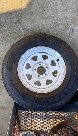 Trailer rim and tire 5 on 5 for Sale in Temecula, CA