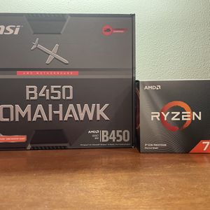 Ryzen 7 3700x, AMD WRAITH PRISM Cpu Cooler, and Msi B450 Tomohawk Motherboard for Sale in Irvine, CA
