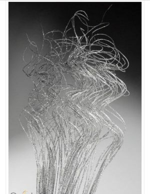 New! Silver metallic curly ting decor centerpieces for Sale in Washington, DC