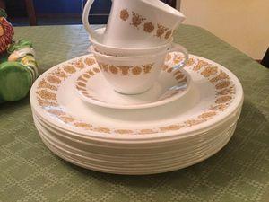 CorningWare Corelle Dinnerware Set 19 pieces gold butterflies pattern for Sale in Miami, FL