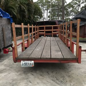 Tandem Axel Open Trailer for Sale in West Palm Beach, FL