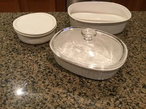 Corningware French White Casseroles for Sale in Spring, TX