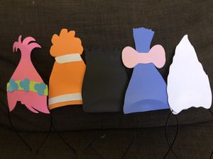 Trolls headbands set of 5 for Sale in Los Angeles, CA
