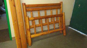 Queen log bed frame for Sale in Medford, OR