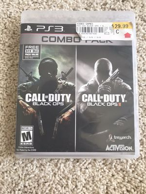 Call of Duty Black ops 1 and 2 PS3 for Sale in Wenatchee, WA
