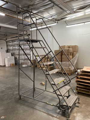 """Rolling ladder, 80"""" top step height, 450lb capacity for Sale in Scottsdale, AZ"""