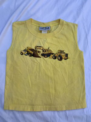 Boys size 4T sleeveless yellow bulldozer shirt for Sale in Painesville, OH