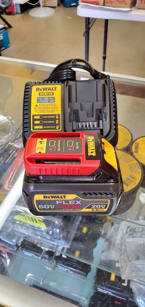 Dewalt 60v Flexvolt 6.0 Battery and Charger for Sale in Berwyn, IL
